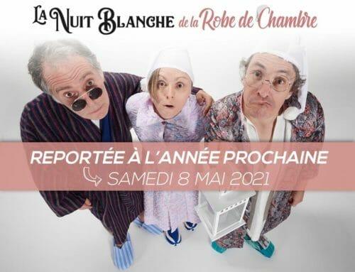 La «Nuit Blanche de la Robe de Chambre» au Parc Soubise  est reportée en  2021